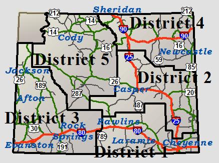 Wyoming Speed Limit Map WYDOT Travel Information Service (Cheyenne)